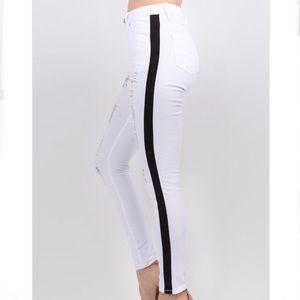 American Bazi | LaDonya White Distressed Jeans